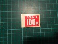 Autocollant 100 Yen Original Game Center Japan Borne Arcade Coin Sticker 100 Yen
