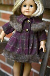 "Well Made Viscose & Wool Blend Coat - Fits 18"" American Girl & OG Dolls"