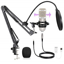 Streaming Podcast Condenser Microphone Kit, Professional Cardioid Studio PC Mic