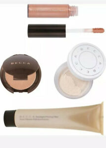 Four piece brand new deluxe travel size Becca brand mixed makeup lot-$50 value