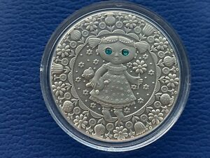 Virgo Zodiac of the Sign 20 Roubles Silver Coin With Crystals Belarus (01)
