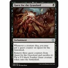 4x QUEST FOR THE GRAVELORD - Rare - Duel Deck - MTG - NM - Magic the Gathering