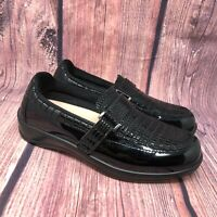 Orthofeet Orthotic Chelsea Croc Slip On Loafers Shoes Black 819 Women's 7.5 Wide