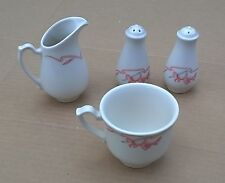 Homer Laughlin Seville Lead Free USA MMB Coffee Cup + Creamer & S & P Shakers VG