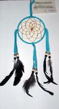 "Native American Dreamcatcher Navajo Indian  4"" dia hoop Turquoise Blue #105"