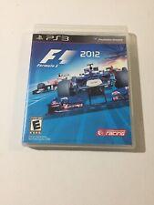 F1 2012 (Sony PlayStation 3, 2012) Tested No Manual
