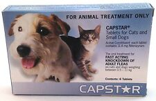 Fast Fleas Flea Treatment Tablets for Cats Small Dogs Capstar 6 pack 0.5 - 11kg