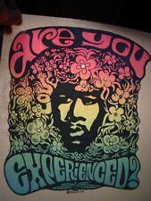 Are You Experienced Hendrix 1970's Vintage Americana Iron On Transfer -Nice, B-9
