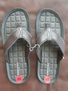 Kenneth Cole Men Brown Florian Sandals Flip Flop Size Pool Beach10 New