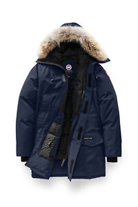 Canada Goose Mens Langford Fusion Fit Parka S Hooded Midnight Navy Blue Down