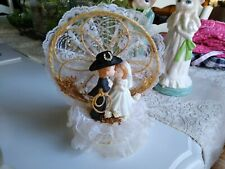 Country WESTERN Cowboy Wedding Cake Topper Ceramic