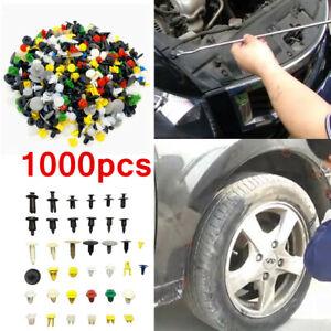 1000Pcs Auto Car Body Plastic Push Pin Rivet Fasteners Trim Panel Moulding Clip
