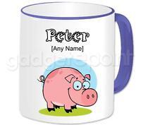 Personalised Gift Animals Farm Pig Coffee Tea 11oz Mug Any Name Any Message Cup