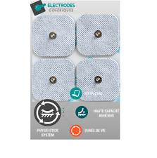 sachet de 4 électrodes pad Snap carré 50x50mm compatible Compex