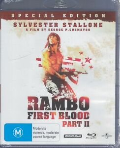 RAMBO First Blood Part II BLU-RAY Sylvester Stallone NEW & SEALED Free Post