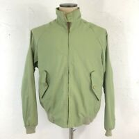 VINTAGE 60s 70s JC PENNEY G9 Baracuta Harrington Jacket Green BRASS Talon ZIP