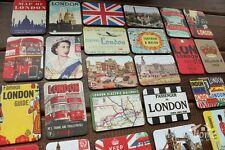 24 Pieces United Kingdom London Multi-Scenes Art Paper Souvenir Fridge Magnets