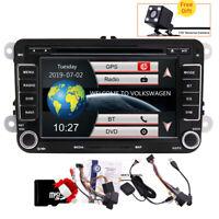 "GPS Sat Navi Radio BT 7"" Car Stereo DVD Player Head Unit For VW Golf MK5 Passat"