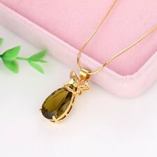 "Women's Unique Pendant Fashion Jewelry 18k Yellow Gold Filled 18"" Chain Necklace"