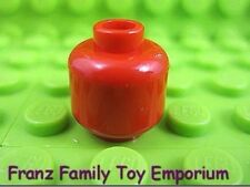 New Lego Minifig Head Star Wars Plain Red Imperial Alien Space Body Part