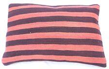 Lumbar Pillow Decorative Cover, Striped Lumbar Turkish Pillowcase  16''x 24''