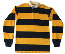 Vintage Columbia Knit Rugby Polo Shirt Men's Size M Long Sleeve USA Made Striped