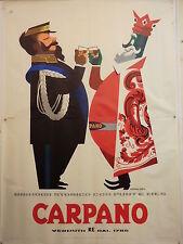 A. TESTA BRINDISI RE CARPANO con VITT.EMANUELE ed. 1956 manif. TELATO originale