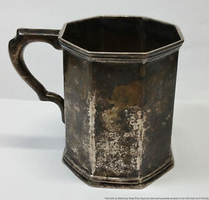 1830s Gale Wood & Hughes Coin Silver New York Childs Drinking Cup Mug