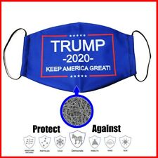 Trump 2020 Face Nose Mask Unisex Washable Reusable Soft Double Layer Cotton
