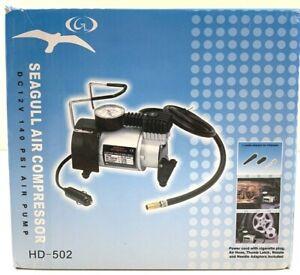 Seagull Air Compressor 12 Volt Inflator 140 PSI Air Pump HD-502 Bike Car Rafts