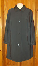 KOEHLER-KRENZER slate blue-grey long mac raincoat winter jacket UK26 Mantel DE52