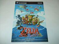 Legend of ZELDA Wind Waker Vintage Flyer 2002 Nintendo Gamecube GC Japan import