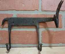 Vintage Wrought Iron Figural Antelope Double Hook Hanger Architectural Hardware