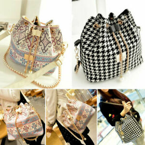 Womens Ladies Bucket Shoulder Handbag Tote Bag Messenger Cross Body Handle Bag