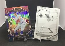 Trevor Bauer 1/1 Absolute Printing Plate & Red,White & Blue Select Prizm Dodgers