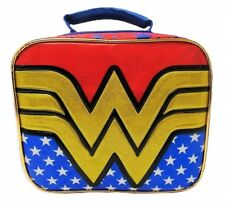 Wonder Woman DC Comics PVC & Lead-safe comida bolsa caja w/ Extraíble capa