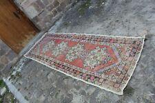 """Vintage Handmade Turkish Oushak Runner Rug 9'10""""x3'2"""""""