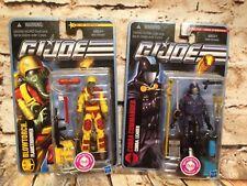 GI Joe The Rise Of Cobra Action Figures HUB 2010 Blowtorch & Cobra Commander MOC