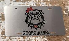 Georgia Bulldogs License Plate Georgia Girl Car Tag Silver Car Tag