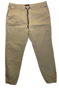 American Eagle Size L T Khaki Joggers Extreme Flex Casual Pants Elastic Waist