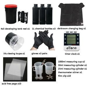Darkroom Film Developing Equipment Kit For 4x5 Color B/W B&W Negative Processing