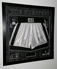 *** Rare MUHAMMAD ALI SIGNED SHORTS TRUNKS Autograph Display*** AFTAL DEALER