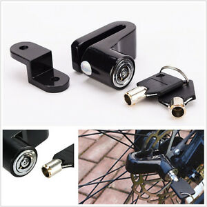 Black Metal Motorcycle ATV Brake Disc Wheel Rotor Lock Anti-Theft Device + 2 Key