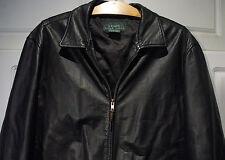 """""""LAUREN Ralph Lauren"""" Mens Leather Jacket LARGE LRG L"""