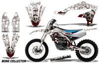 Dirt Bike Decal Graphics Kit MX Sticker Wrap For Yamaha YZ450F 2018+ BONES WHITE