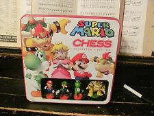 Super Mario Chess set great condition!!! collector's tin USAopoly