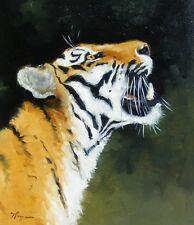 ORIGINALE Pittura ad Olio-fauna selvatica arte -- Big Cat-Ritratto TIGRE-by J Payne