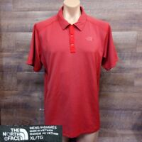 The North Face MEN'S SHORT-SLEEVE POLO SHIRT Size XL RED
