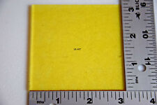 "1120.30 TRANSPARENT YELLOW 3"" x 3"" SQUARE BULLSEYE 3mm THICK GLASS 90 COE"