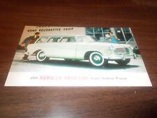 1959 Rambler American Station Wagon Advertising Postcard